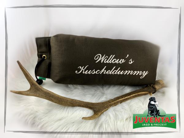 Juventas Dummy-Kissen / Kuschelkissen personalisiert aus leichtem Canvasstoff