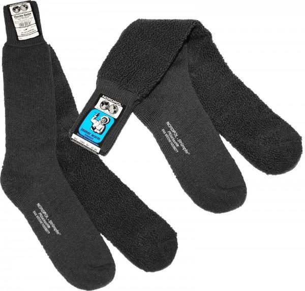 Gesundheitsstrumpf Vollplüsch, Thermo-Socke anthrazit