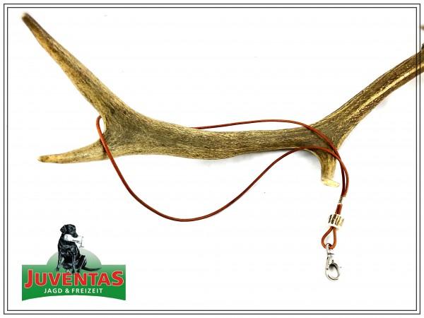 Pfeifenband aus Leder mit Horn